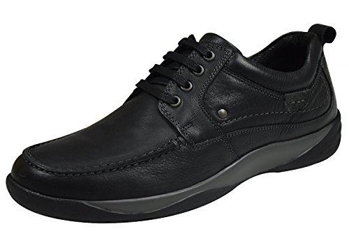 Longo 1005380 Herren Schnürschuhe schwarz/grau Schwarz