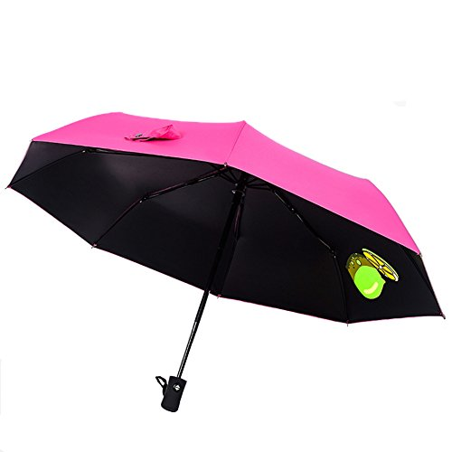 Windproof Travel Umbrella Aguder Golf Umbrellas   Unbreakable  Lightweight 8 Ribs Automatic Windproof Canopy Compact Auto Open Close  Rose Red