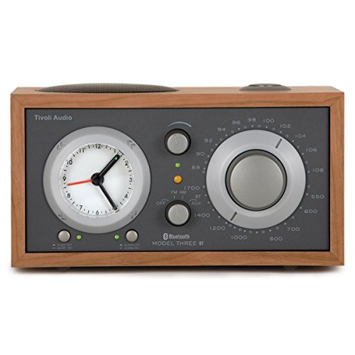 Tivoli Audio - Model Three BT AM/FM Clock Radio with Bluetooth - Cherry and Taupe