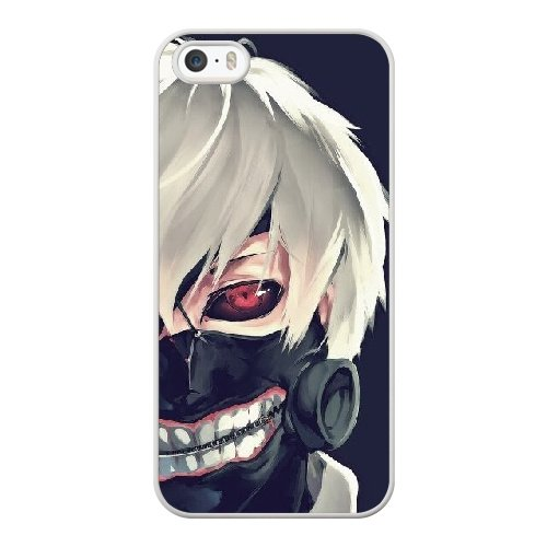 Coque,Apple Coque iphone 5/5S/SE Case Coque, Generic Tokyo Ghoul Kaneki Cover Case Cover for Coque iphone 5 5S SE blanc Hard Plastic Phone Case Cover