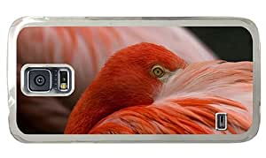 Hipster Samsung Galaxy S5 Case brand new flamingo hd PC Transparent for Samsung S5
