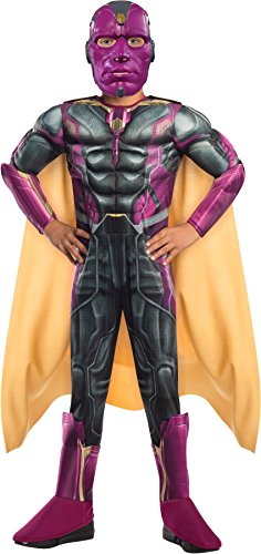 Comic Book Girl Costume Party City (Rubie's Costume Avengers 2 Age Of Ultron Child's Deluxe Vision Costume, Small)