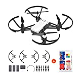 Tello Quadcopter Drone Boost Combo with Extra Accessories HD Camera and VR,Powered by DJI Technology and Intel Processor,Coding Education
