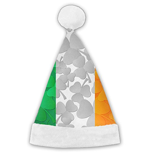 Traditional Irish Costumes (Seasonlogo Irish Flag With Shamrocks Traditional Plush Christmas Santa Hat Costume Holiday Hats For Dinner Table Cutlery Holders)