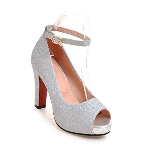de de Boca y Sandalias con Zapatos Tacón de Mujer Pescado Primavera la Pulsera Mujer el Europa y Sandalias Sandalia Verano para q14qgZ