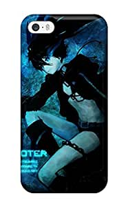 Anti-scratch And Shatterproof Black Rock Shooter Phone Case For Iphone 5/5s/ High Quality Tpu Case