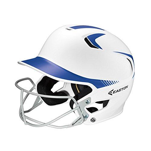 Easton Senior Z5 2Tone Batters Helmet with SB Mask, White/Royal