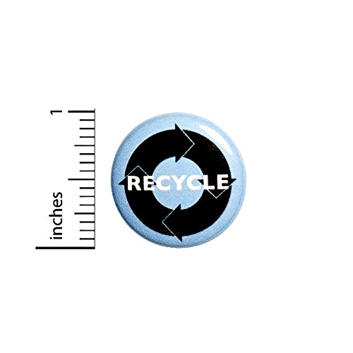 Recycle Button Eco Earth Friendly Conscious Save The Planet Bag Pin Pinback 1