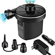 semai Electric Air Pump Portable Quick Fill Air Pump for Inflatable Couch, Air Mattress Bed,Swimming Ring, Inf