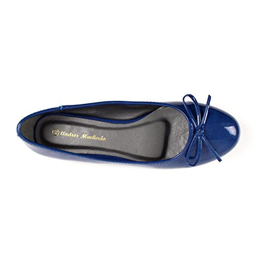 Patent Blue TG104 Ballerines Andres Machado 4IxwIqtZ