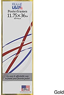 product image for Frame USA 11.75x36 Hardboard Poster Frames (Gold) | Multiple Color Options Available