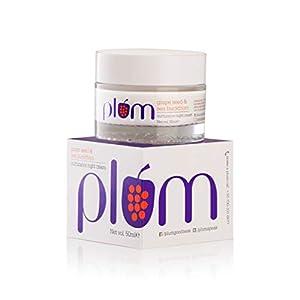 Plum Grape Seed & Sea Buckthorn Nurturance Night Cream | For Normal, Combination, Dry Skin | Overnight Hydration…