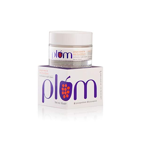 Plum Grape Seed & Sea Buckthorn Nurturance Night Cream | For Normal, Combination, Dry Skin | Overnight Hydration… 2021 August NIGHT HYDRATION FOR A GLOWING MORNING: Regular use of night creams for dry dehydrated skin will ensure that your skin has the optimum level of moisture content, gets its supply of essential nutrients, and allows skin repair to take place. Here's a great night cream that will make for a great night time buddy for your dry skin. It's grape seed oil and sea buckthorn oil will nourish and hydrate your dry skin, ensuring that you wake up with refreshed and smooth skin HEAVY-DUTY MOISTURISER to give you intense hydration all night so you wake up happy, glowy and moisturised everyday! HOW TO USE: Wash face with a gentle face wash. Pat dry with soft towel. Massage the sea buckthorn night cream gently into face and neck. You will like what you see in the mirror each morning!