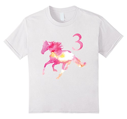 unisex-child Kids 3rd Birthday Horse Gift T-Shirt for 3 Year Old Girls 4 - Retro 3 Kids