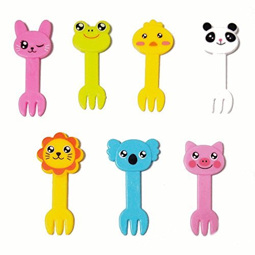Animal Food Forks for Bento Box Decoration, Party Accessories