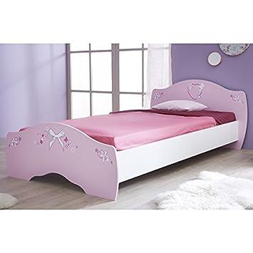 Jugendbett Ava 90*200 cm rosa / weiß Mädchen Prinzessin Jugendzimmer ...