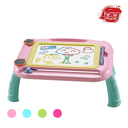 HahaGift Toys for 2 3 4 5 6 Year Old Girls, Magnetic Doodle Erasable Drawing Board for Kids Age 2-7 Festival Gift Birthday Present for Toddlers Babies 2-6 Year Old Toys 2019 Christmas New Gifts, Pink (Best Christmas Presents Of 2019)
