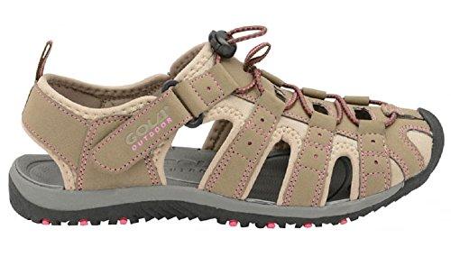 Gola - Sandalias deportivas de material sintético para mujer Taupe/ Hot Pink