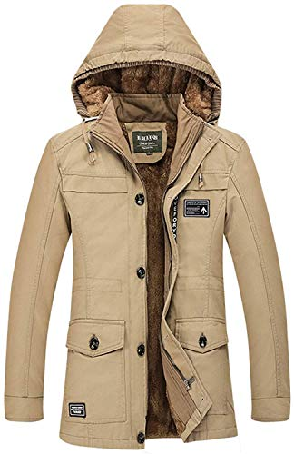Outdoor Fashion Hx Invernale Taglie Giacca A Con Abiti Robusta Termica Cappuccio Comode Pesante Cotone Parka 5817 Vento Uomo In Casual Da khaki 6drdqxw