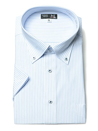シティ民族主義ストレージ(ビーアンドティークラブ) B&T CLUB 大きいサイズ メンズ 形態安定 トリコット素材 ボタンダウン 半袖 ワイシャツ