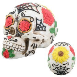 Day of the Dead Dod Tattoo Sugar Skull Head Display Decoration -