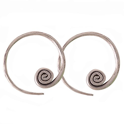 Coil Earrings Karen Hilltribe Pure Silver