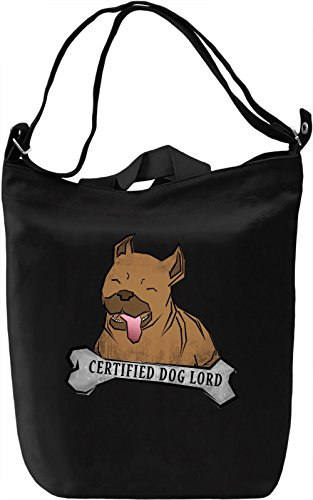 Certified Dog Lord Borsa Giornaliera Canvas Canvas Day Bag  100% Premium Cotton Canvas  DTG Printing 
