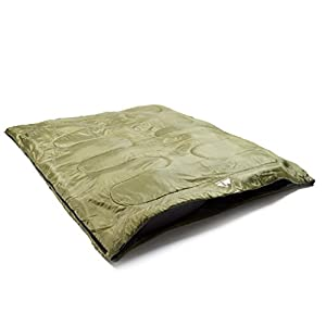 Eurohike Super Snooze Double Sleeping Bag, Green, One Size