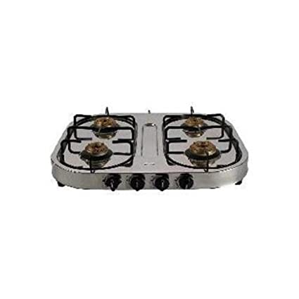 Sunflame 4 Burner Stainless Steel Gas Stove -Silver