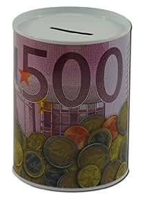 redondas Hucha Hucha, diseño 500Euro para ahorrar dinero monedas Hucha coleccionar.