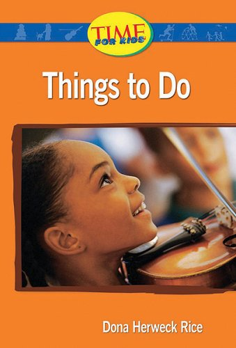 Download Things to Do: Upper Emergent (Nonfiction Readers) PDF