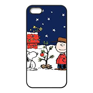 iPhone 5 5s Cell Phone Case Black Charlie Brown and Snoopy vxev