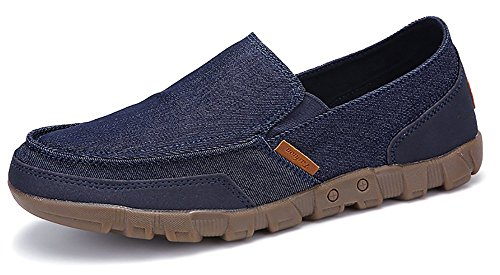Loafers Odema Classic Shoes Penny Slip Darkblue Comfort Shoes Mens Canvas Casual Driving On xwSqxfBAP