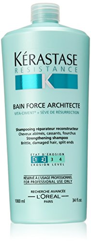 Kerastase Resistance Bain Force Architecte Shampoo, 34 Fluid Ounce by Kerastase