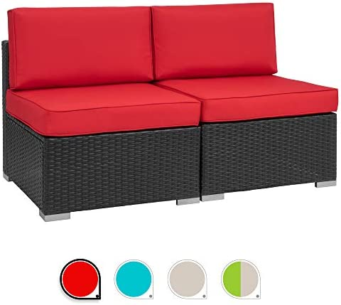 Walsunny 2pcs Patio Red