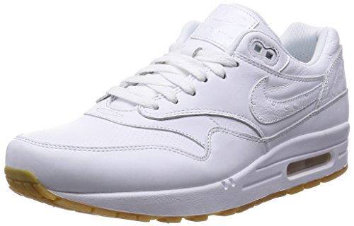NikeAir Max 1 Leather Pa - Zapatillas de running hombre White / Gum Light Brown