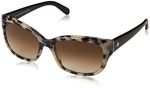 Kate Spade Women's Johanna Rectangular Sunglasses, HAVANA BLACK, 27 ()