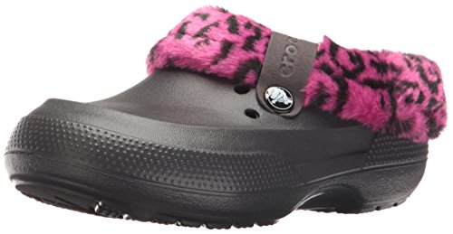 Crocs Classic Blitzen II Clog (Toddler/Little Kid), Leopard/Black, 8/9 M US (Kids Leopard)
