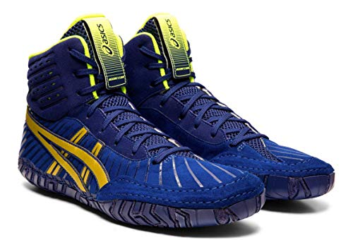 ASICS Aggressor 4 Men's Wrestling Shoes, Dive Blue/Rich Gold, 8 M US