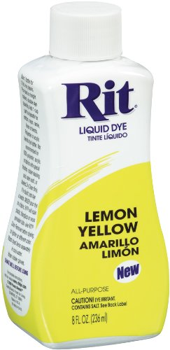 Rit Dye Liquid Fabric Dye, 8-Ounce,  Lemon Yellow - Dye Lemon