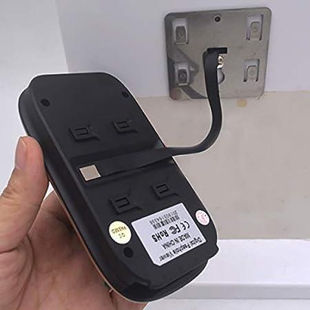 Moligh doll 2.8 Pulgadas LCD Pantalla una Color Timbre de la Puerta Digital Mirilla Electr/ónica Visi/ón Nocturna Sensor de Movimiento Puerta Visor de la C/ámara Dorado