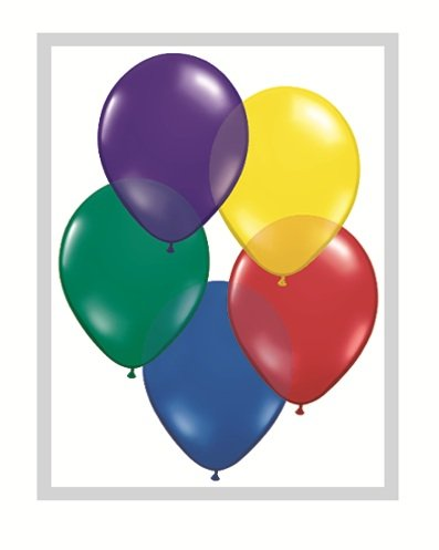 Qualatex Biodegradable 16 Inch Helium Quality Radiant Jewel Tone Balloon Assortment - MADE IN NORTH AMERICA - (Package of 50) by BaiShop