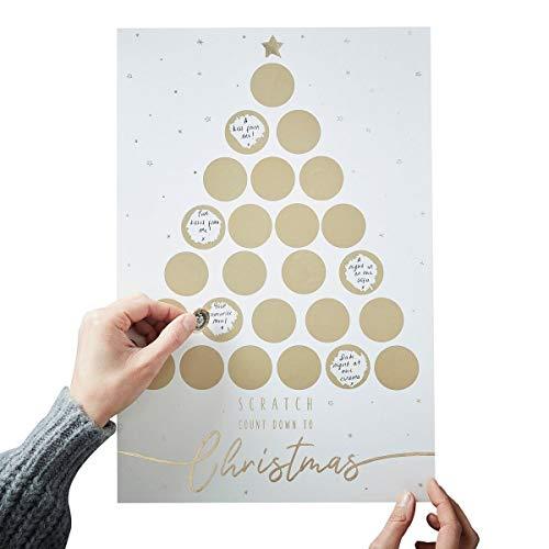 Christmas Advent Calendar 2018 Adult Advent Calendar Kids Advent Calendar Fill In Scratch & Reveal