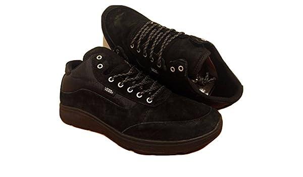 vans black and brown sole