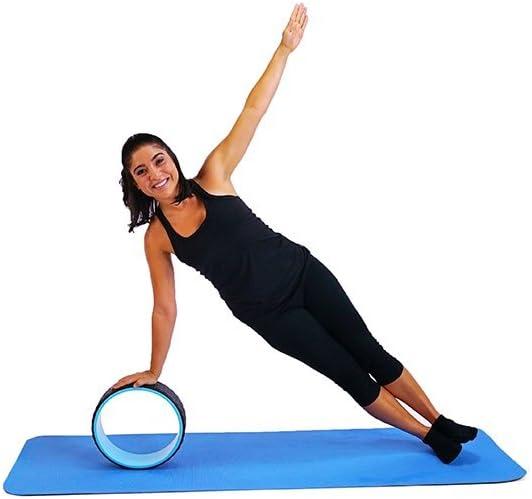 JAXJOX Unisex Premium Dharma Yoga Rueda Prop Color Morado