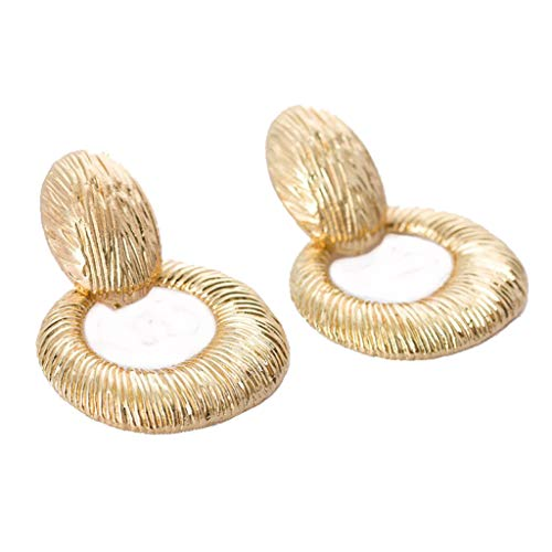 (Dangle Earrings Exaggerated Irregular Metal Round Vintage Jewelry for Women Drop Earring)