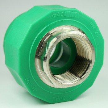 PPR Aqua Plus - Acoplamiento con rosca interior 40 mm x 1 pulgada: Amazon.es: Bricolaje y herramientas