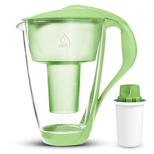 green glass water pitcher - 8