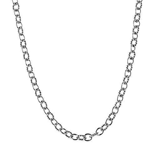 Carolyn Pollack Sterling Silver Chain Necklace - 24 Inch
