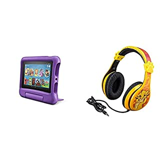 Fire 7 Kids Edition Tablet + Lion King Headphones